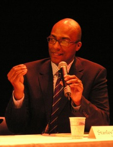 Corporate Lawyer Stanley Pierre-Louis moderates an Imagination Conversation in June 2009