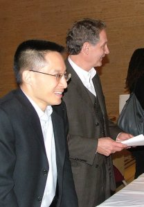 Eric Liu with co-author Scott Noppe-Brandon at the October 8th event. Photo by Jessica Handrik.